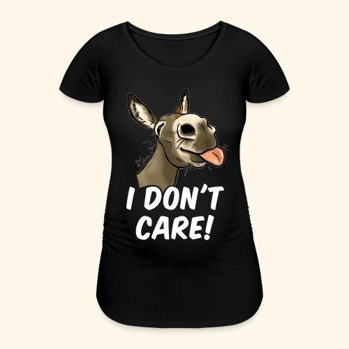 Ane I don't care! (texte blanc) - T-shirt de grossesse Femme