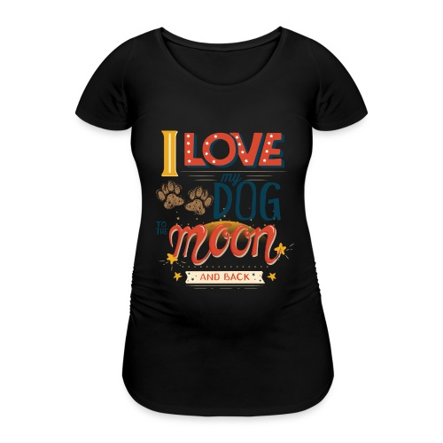 Moon Dog Light - Gravid-T-shirt dam