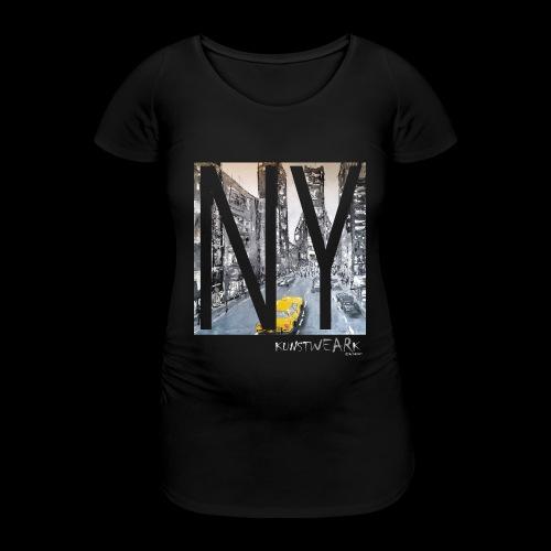 TIME SQUARE - Frauen Schwangerschafts-T-Shirt