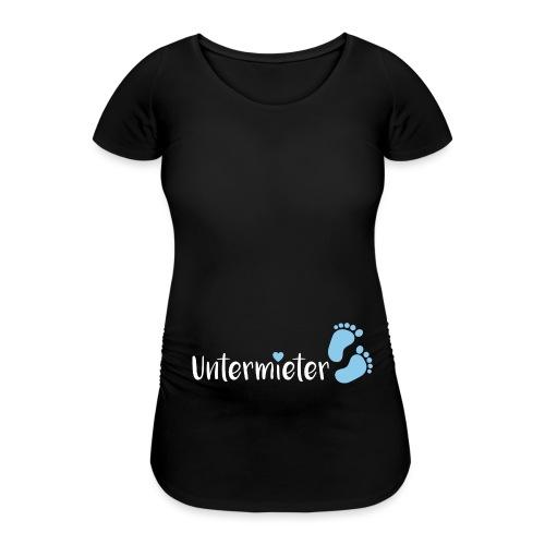 Babybauch Untermieter schwanger Geschenkidee - Frauen Schwangerschafts-T-Shirt