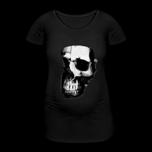 teschio darktrasp - Maglietta gravidanza da donna