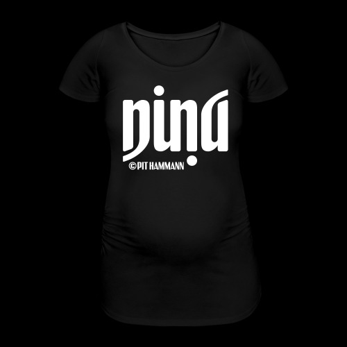 Ambigramm Nina 01 Pit Hammann - Frauen Schwangerschafts-T-Shirt