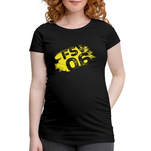 Hildburghausen FSV 06 Graffiti gelb - Frauen Schwangerschafts-T-Shirt