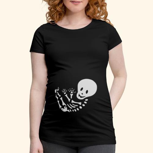 Bauchband Baby Skelett - Frauen Schwangerschafts-T-Shirt