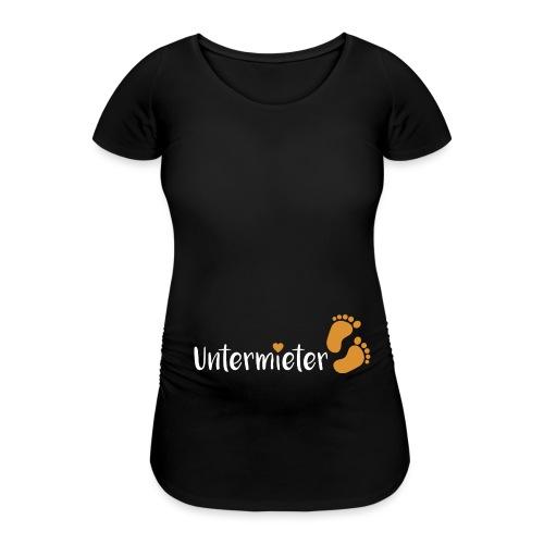 Babybauch Untermieter schwanger Herz - Frauen Schwangerschafts-T-Shirt