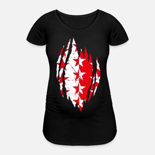 WALLISER WAPPEN RIP - Frauen Schwangerschafts-T-Shirt