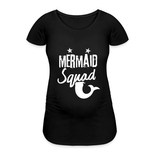 Meerjungfrau-Trupp-Kader - Frauen Schwangerschafts-T-Shirt