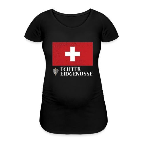 Echter Eidgenosse Schweiz - Frauen Schwangerschafts-T-Shirt
