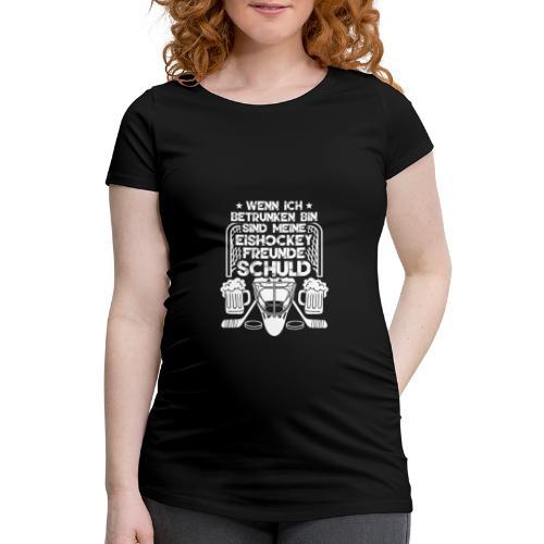 Lustiges Bier Eishockey Geschenk Hockey Freunde - Frauen Schwangerschafts-T-Shirt