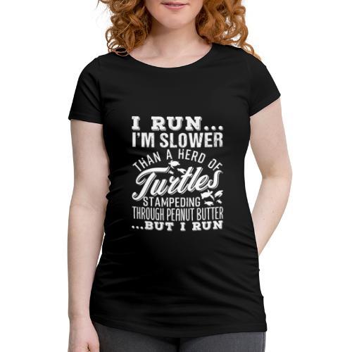 Run Turtles As Fast As We Can - Frauen Schwangerschafts-T-Shirt