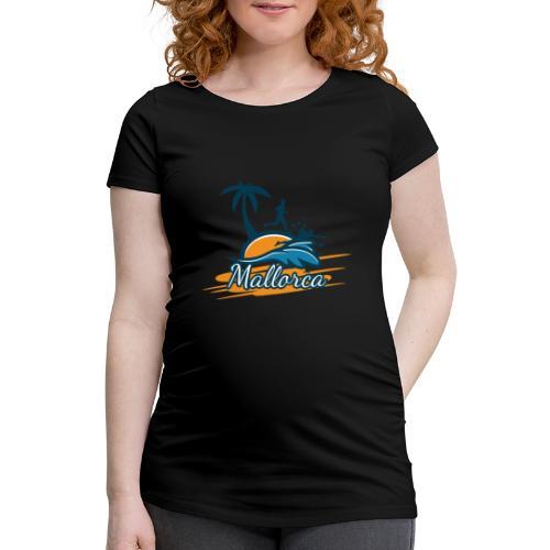 Joggen auf Mallorca - Sport - sportlich - Jogging - Frauen Schwangerschafts-T-Shirt