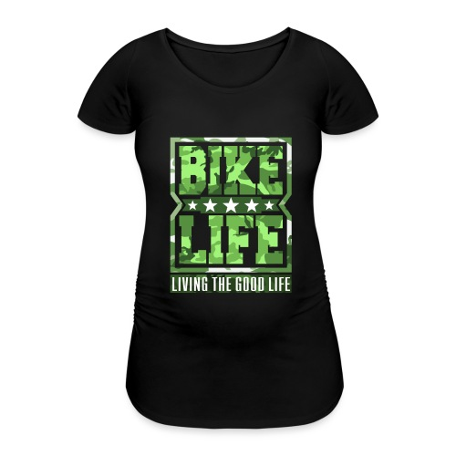 Bikelife Green Camo - Women's Pregnancy T-Shirt