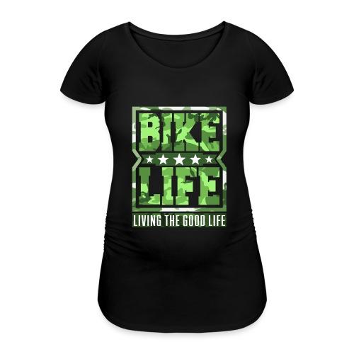 Bikelife Green Camo - Women's Pregnancy T-Shirt