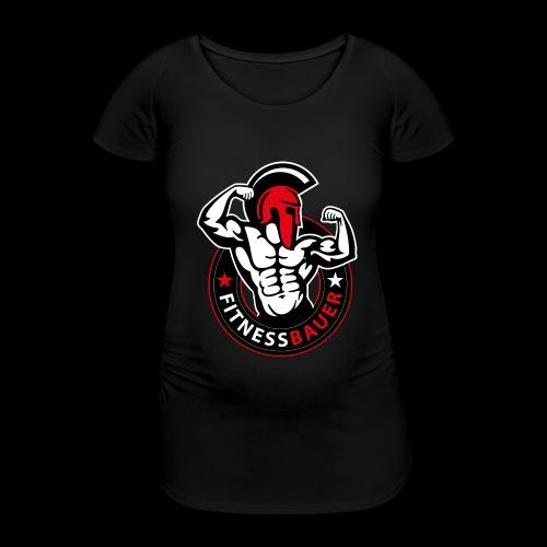 FitnessBauer in Rot - Frauen Schwangerschafts-T-Shirt
