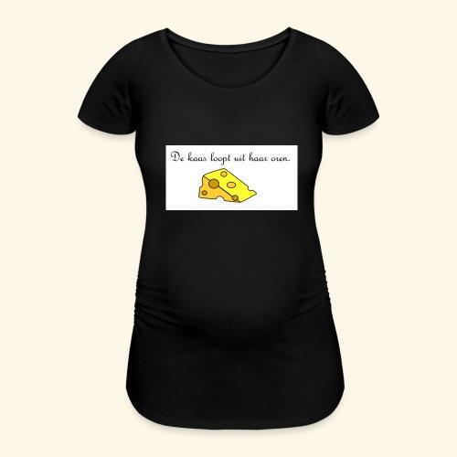 Kaas loopt uit haar oren - Temptation - Vrouwen zwangerschap-T-shirt