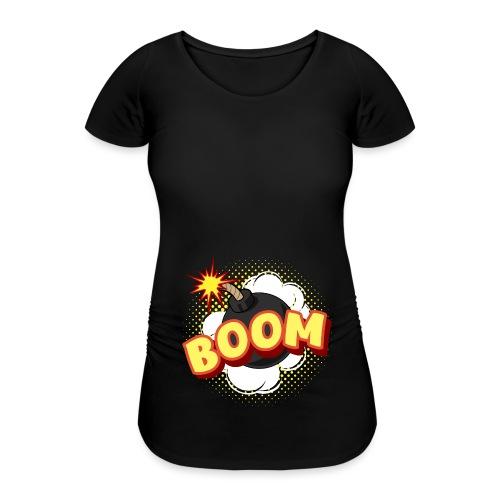 Comic Boom Bombe schwanger Geschenk Babybauch - Frauen Schwangerschafts-T-Shirt