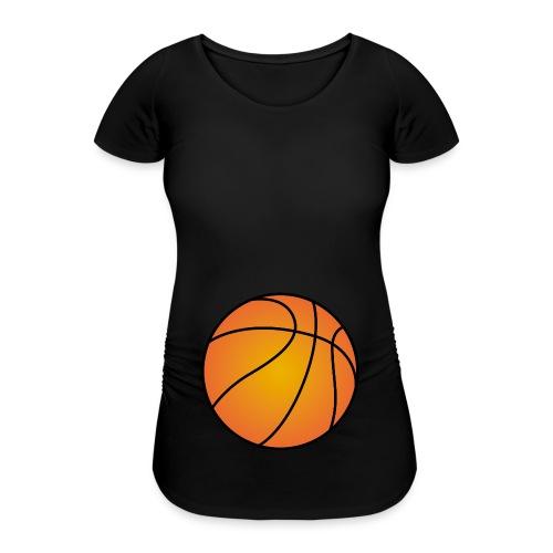 Basketball Babybauch schwanger Sport - Frauen Schwangerschafts-T-Shirt