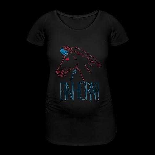 Einhorn - Frauen Schwangerschafts-T-Shirt