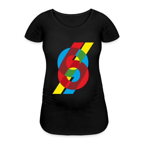 colorful numbers - Women's Pregnancy T-Shirt