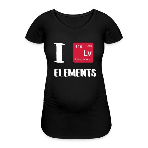 I love Elements - Frauen Schwangerschafts-T-Shirt