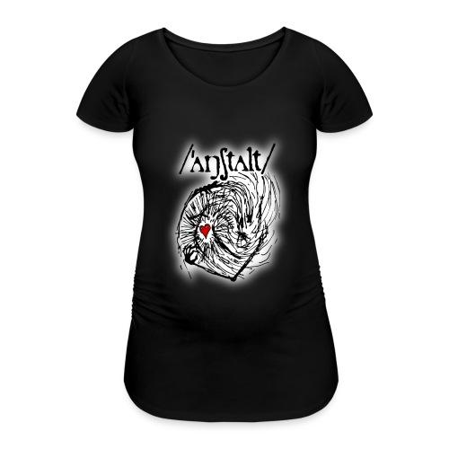 wesen mit herz und logo - Frauen Schwangerschafts-T-Shirt