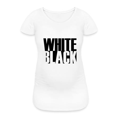 White, Black T-shirt - Vrouwen zwangerschap-T-shirt