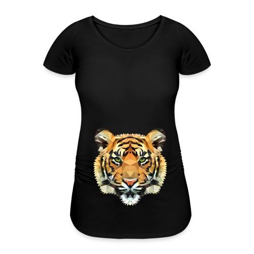 Tiger Polygon wild schwanger Geschenk Babybauch - Frauen Schwangerschafts-T-Shirt