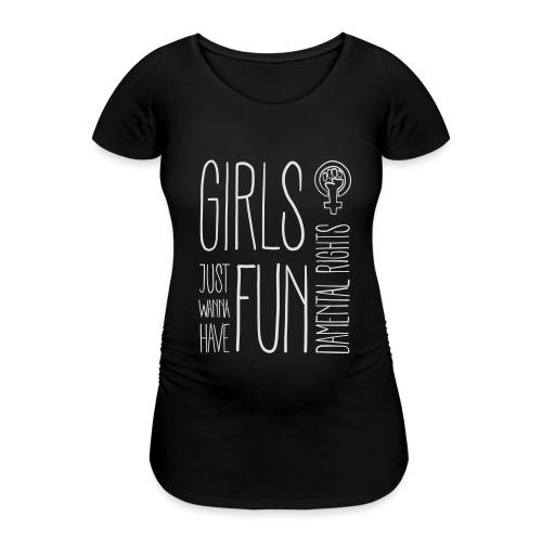 Girls just wanna have fundamental rights - Frauen Schwangerschafts-T-Shirt