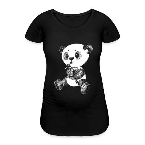 Panda bjørn hvid scribblesirii - Vente-T-shirt