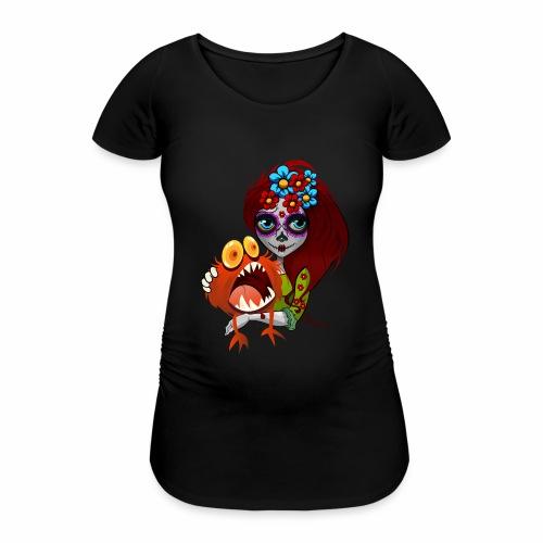 Catrina con Monstruo - Camiseta premamá