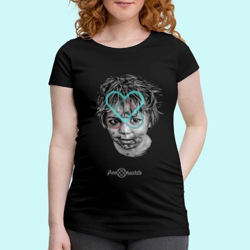 freehearts for povertychild - Frauen Schwangerschafts-T-Shirt