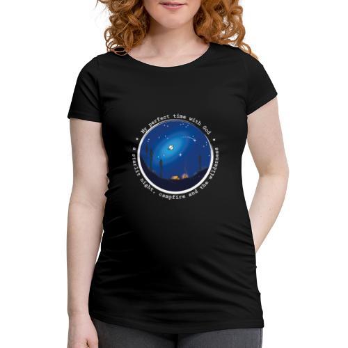 Sany O. Jesus Camping Star Wild Perfect Time God - Frauen Schwangerschafts-T-Shirt