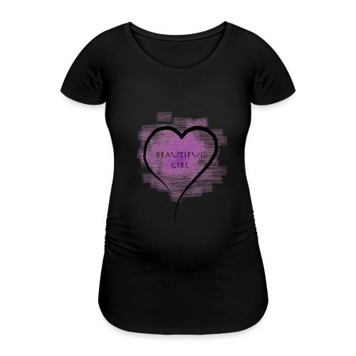 Longsleeves- Beautiful Girl - Frauen Schwangerschafts-T-Shirt