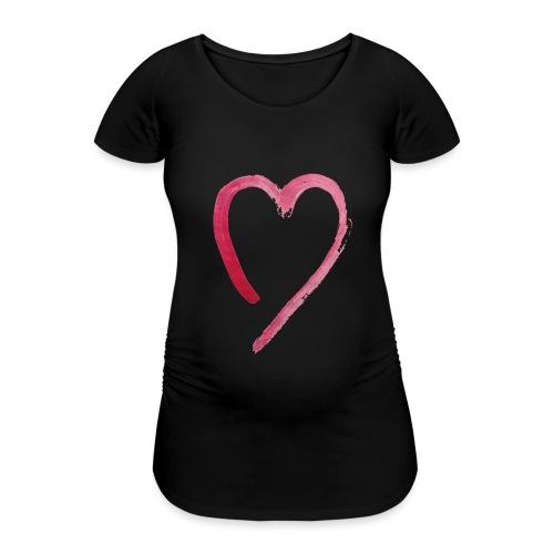 KARA-hart - Vrouwen zwangerschap-T-shirt