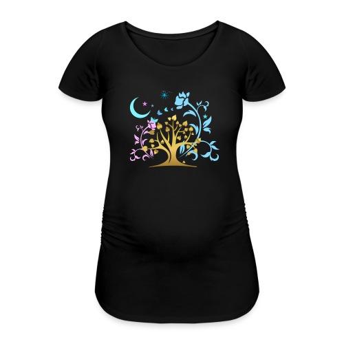 Mystic Tree - Frauen Schwangerschafts-T-Shirt
