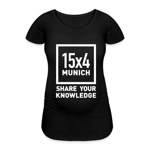 Share your knowledge - Frauen Schwangerschafts-T-Shirt