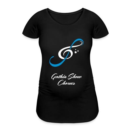 GothiaShowChorus_LOGGA Vit Blå - Gravid-T-shirt dam