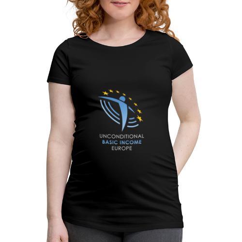 02 ubie on black centered png - Vrouwen zwangerschap-T-shirt