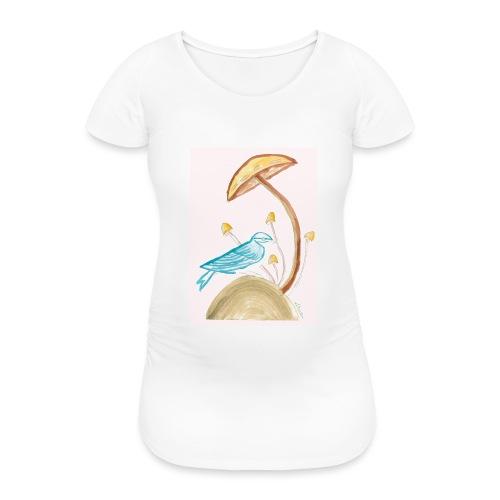 fungo con uccello - Maglietta gravidanza da donna