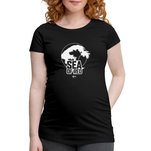 Sea of red logo - white - Women's Pregnancy T-Shirt