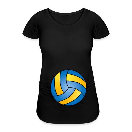 Volleyball Babybauch schwanger Sport - Frauen Schwangerschafts-T-Shirt