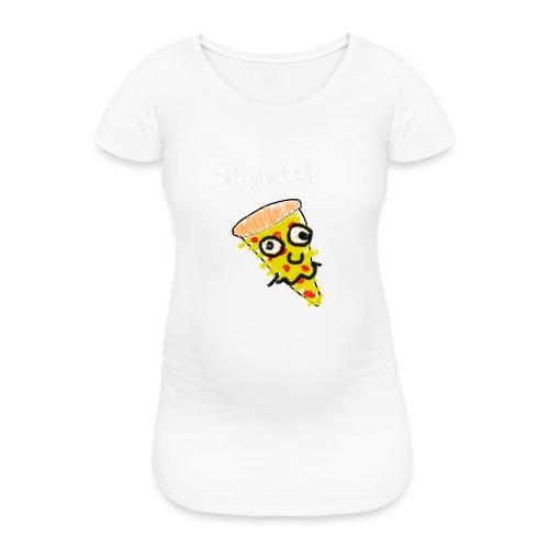 spaghetti (witte tekst) - Vrouwen zwangerschap-T-shirt