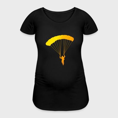 Colorfull Skydiver - Frauen Schwangerschafts-T-Shirt