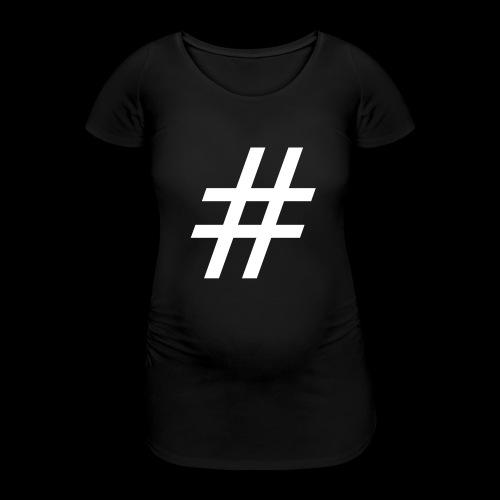 Hashtag Team - Frauen Schwangerschafts-T-Shirt