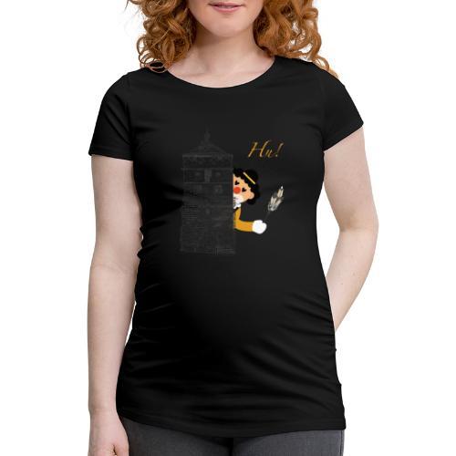 Hu! Hu! Hu! Schwarzgelber Clown am Schwarzen Tor - Frauen Schwangerschafts-T-Shirt