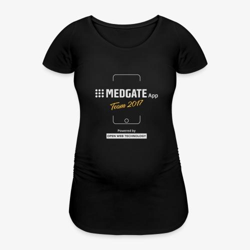 Medgate App Team 2017 Dark - Frauen Schwangerschafts-T-Shirt
