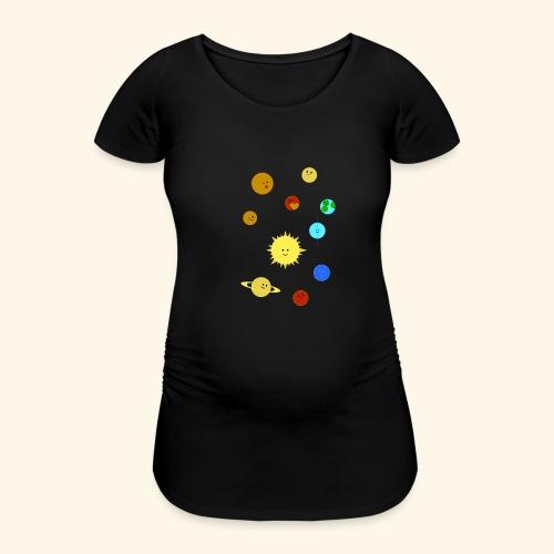 Solsystemet - Gravid-T-shirt dam