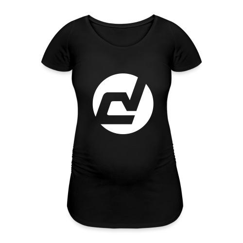 logo blanc - T-shirt de grossesse Femme