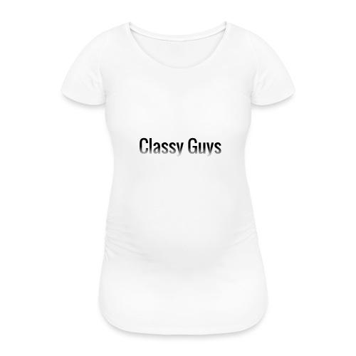 Classy Guys Simple Name - Women's Pregnancy T-Shirt