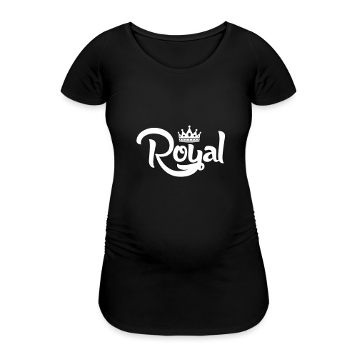 Royal Logo White Edition - Women's Pregnancy T-Shirt